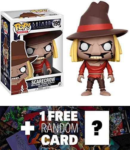 Scarecrow: Funko POP! Heroes x Batman The Animated Series Vinyl Figure + 1 FREE Official DC Trading Card Bundle (14260)