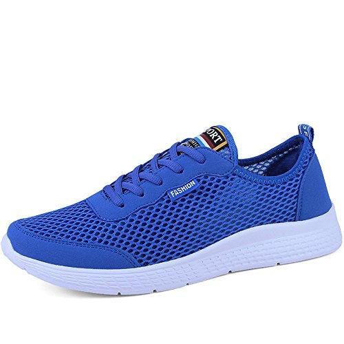 para Superiores Zapatillas Zapatillas para 2018 Malla Zapatillas Deporte de para shoes Azul de Caminar Hombre Hombre Transpirable Deporte de Shufang Ligeras atléticas ZqEFHwfx7