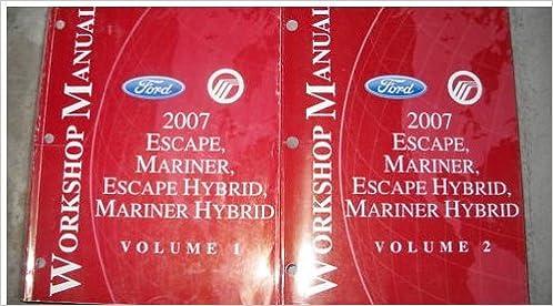 2007 Ford Escape Mariner Escape Hybrid Service Manual (2 ...  Ford Escape Wiring Diagram on