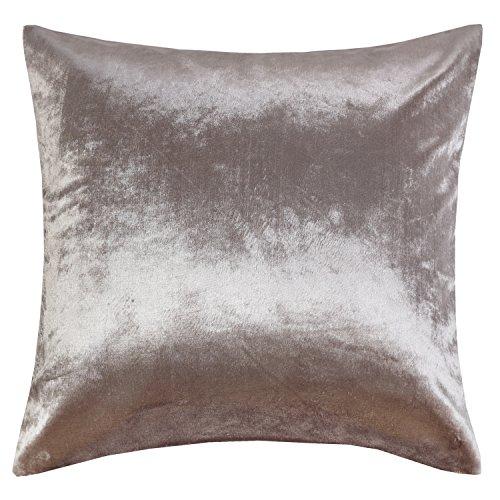 Luxury Shinny Velvet Silver Grey Decorative Throw Pillow Cushion Cover (18x18inch(45x45cm), Silver - Shinny Silver