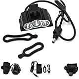 1 Set Culminate 4 Modes 7500LM LED Bike Light Bicycle Headlight Front Flashing Flashlight Color Black with Battery Charger