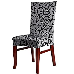 Amazon.com: uxcell Stretchy Dining Chair Cover Short Chair ...