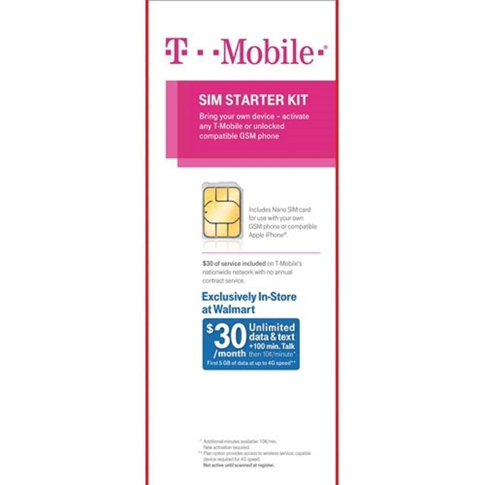 T-Mobile Sim Starter Kit with $30 of Service Included (Nano Sized SIM) by T-Mobile (Image #1)