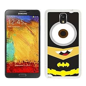 Batman Minion White Samsung Galaxy Note 3 Screen Cover Case Grace and Durable Protective