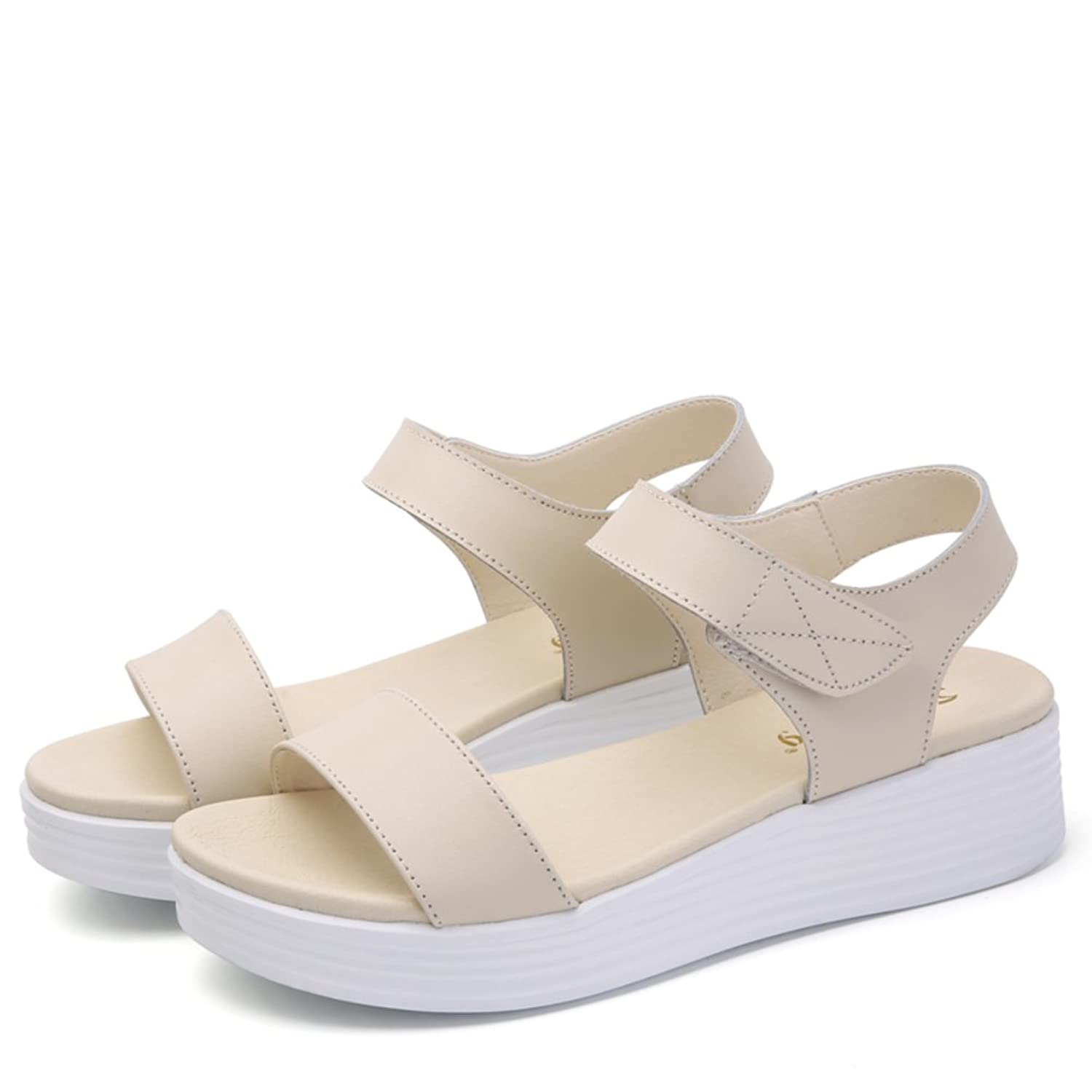 une casual Moyens talons Shoesthick plat lady Summer Soled Outlet 6BqzPn