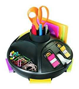 Post-it Rotary Organizer, 10 x 6-Inches, Black