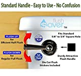 "FlushSaver 3"" DRAIN STANDARD LEVER HANDLE Dual-Flush Deluxe DIY Conversion Kit - FITS STANDARD 3"" DRAIN TWO PIECE TOILETS. Converts standard toilets into efficient dual-f"