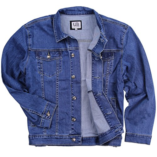 UB Apparel & Gear Men's Classic Comfort Fit Denim Jean Jacket