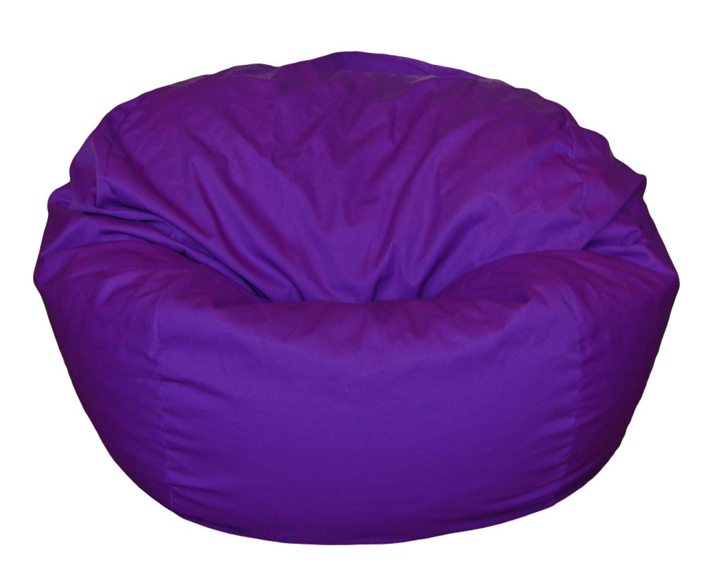 Ahh! Products Poly/Cotton Washable Bean Bag, Purple, Large