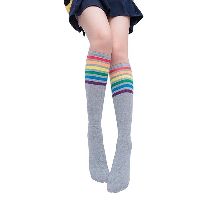 Goosuny Kindersocken Niedlich Tier Muster Drucken Kniestr/ümpfe M/ädchen Lange Socken Weich Elastisch Nette Sch/üler Overknee Str/ümpfe Baumwollstr/ümpfe /Überknie Sportsocken Kniesocken