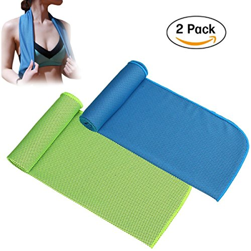 Lanticy Cooling Towel for Sports, 2 Pack Cooling Neck Towels Beach Cool Towel for Sports Workout Fitness Gym Yoga Golf Pilates Travel Camping Hiking & More 40x12inch by Lanticy