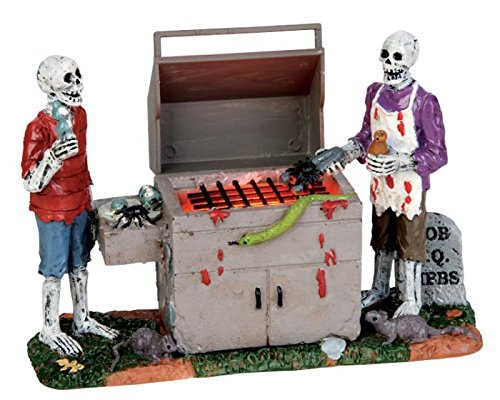 Lemax Spooky Town Gory Grillin Battery Operated # 54912 -