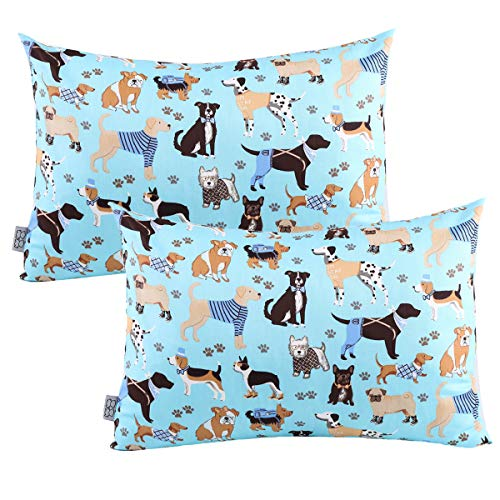 (Kids Toddler Pillowcases UOMNY 2 Pack 100% Cotton Pillowslip Case Fits Pillows sizesd 13 x 18