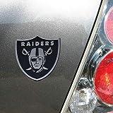 nfl car emblem - NFL Oakland Raiders Premium Metal Auto Emblem