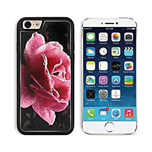 Flower Dew Drops Petals Pink Apple iPhone 6 TPU Snap Cover Premium Aluminium Design Back Plate Case Customized Made to Order Support Ready Liil iPhone_6 Professional Case Touch Accessories Graphic Covers Designed Model Sleeve HD Template Wallpaper Photo J