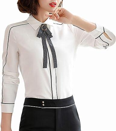 DISCOUNTL Blusa de Manga Larga para Mujer, Camisetas de Manga Larga, Camisetas Blancas Casuales (Producto Solo Contiene Camisa): Amazon.es: Ropa y accesorios