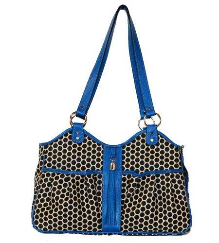 Cobalt Petite Cobalt Petite Petote Metro Couture Leather Trim Dog Carrier, Petite, Cobalt