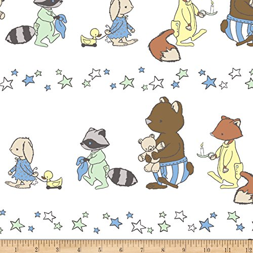 - Shannon Fabrics Sweet Melody Designs Bedtime March Cuddle Honeydew Yard