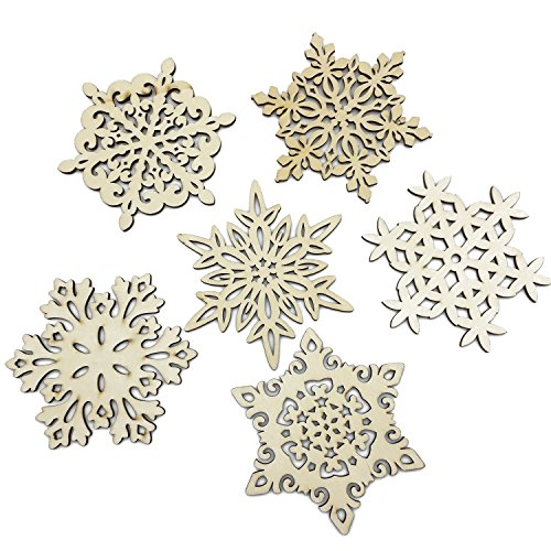 - Mziart Set of 6 Snowflake Wood Coasters for Drinks and Coffee, Christmas Cup Mat, Gift Worthy