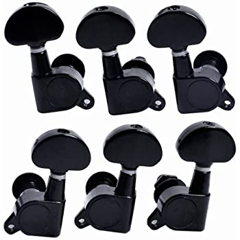 6pcs 3l3r acoustic guitar string tuning pegs machine head tuners black musical. Black Bedroom Furniture Sets. Home Design Ideas