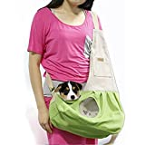 Pet Sling Carrier, PYRUS Dog Sling Bag Shoulder Carry Bag with Extra Pocket for Cat Dog Small Animals ( Green )
