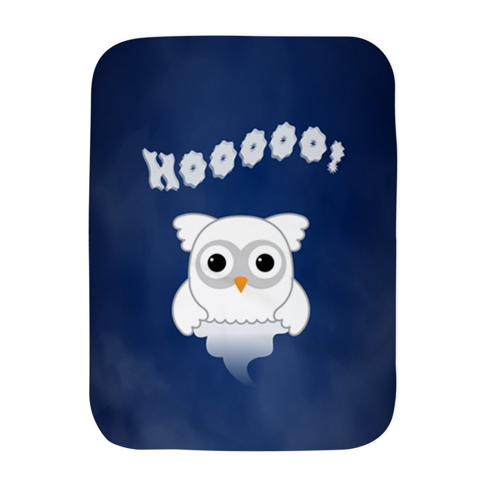 Truly Teague Baby Blanket White Spooky Little Ghost Owl In The Mist