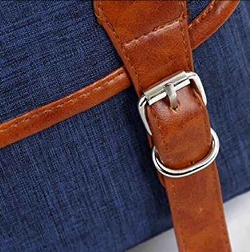 Bolsa De Gran Capacidad De La Computadora Bolsa De Hombro Bolso De La Correa Bolso Decorado Bolsa De Viaje Simple Salvaje Blue