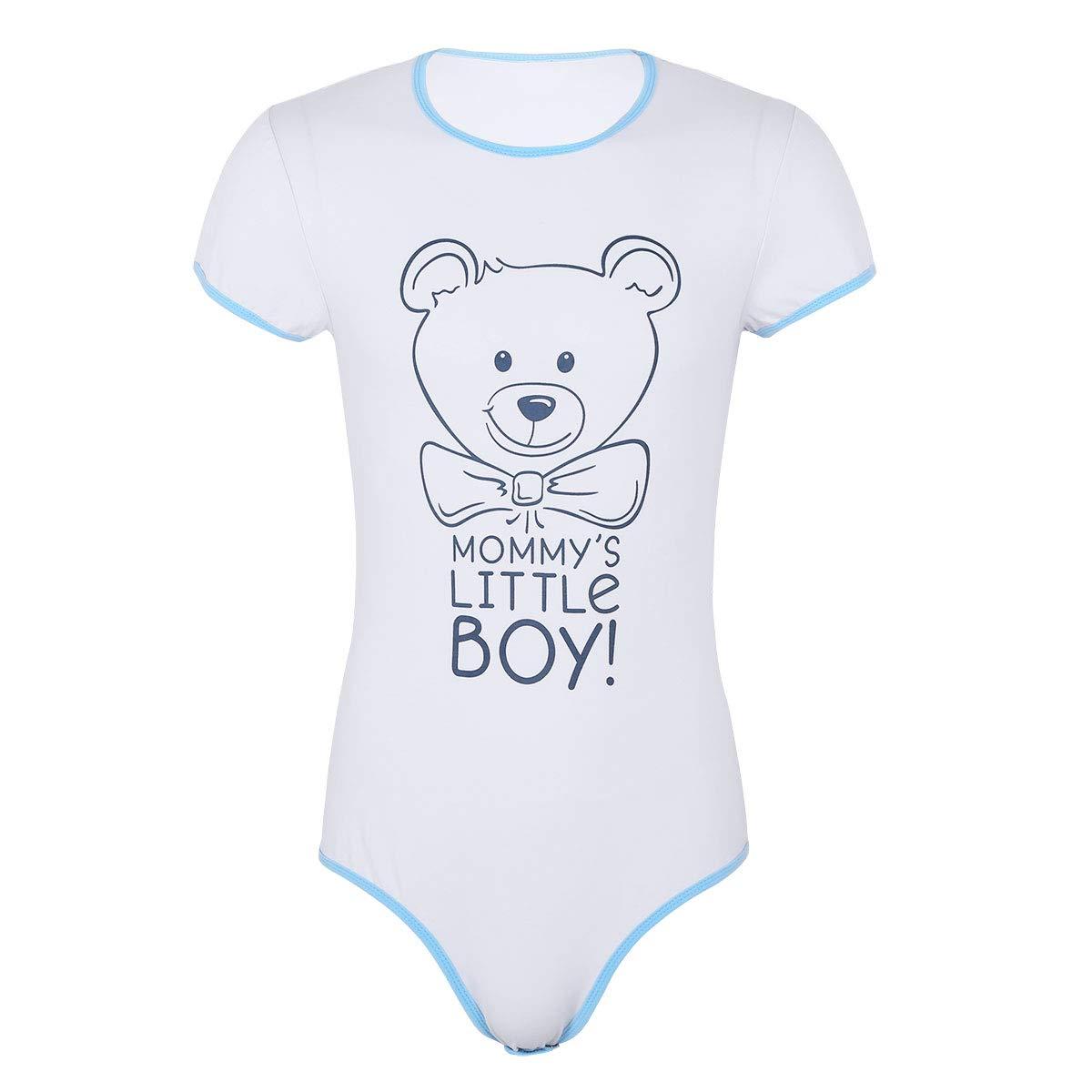 Snap Crotch Romper Onesie Pajamas-Mommys Little Boy ABDL iiniim Adult Baby /& Diaper Lover