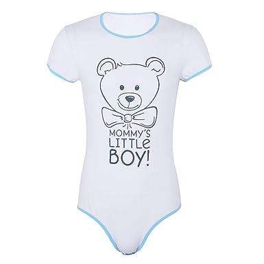 inhzoy Romper Barboteuse Combinaison à Manche Courte T-Shirt Body Dors Bien Bébé  Adulte Snap 01c48e953c7