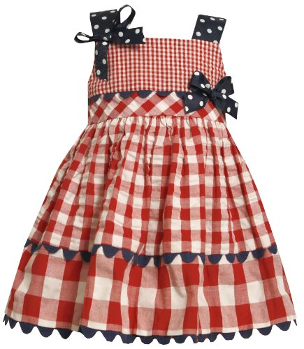 Bonnie Jean Little Girls' Seersucker Dress with Ric Rac Trim
