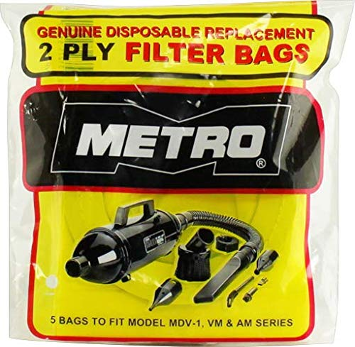 Metro DataVac Vacuum Disposable  Replacement Cleaner Bags for Models MDV-1, VM,  and AM Series
