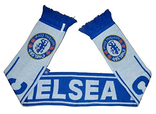 399a7b57c42 Chelsea FC Woven Winter Scarf (Reflux Blue White) - Buy Online in ...
