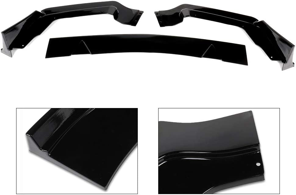 ECCPP Gloss Black Front Bumper Lip Splitter Spoiler Automotive Body Kits Spoiler Fits 2015-2016 Ford Mustang 3.7L Base Coupe 2door