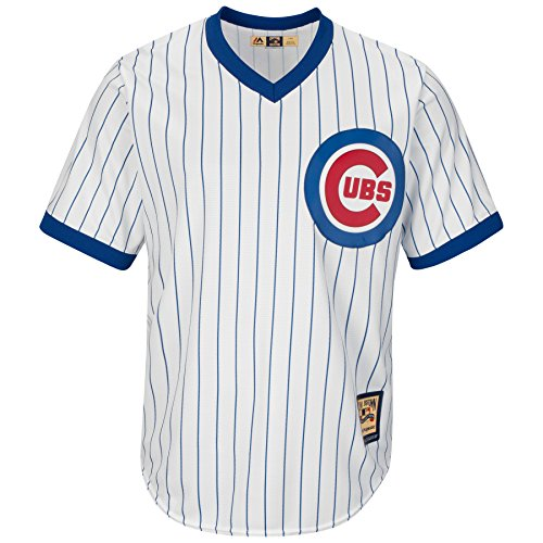 - Majestic White/Royal Blue Replica Cooperstown Cool Base® Jersey - MLB Chicago Cubs (3XL, White/Royal Blue)