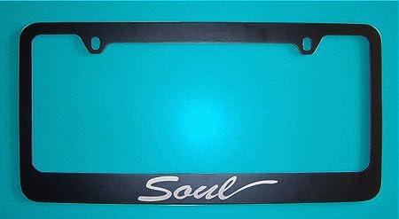 KuraSpeed Soul Stainless Steel Mirror Chrome Metal License Plate Frame with Screw Caps