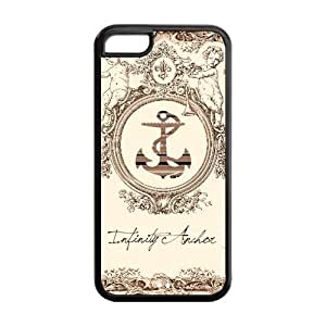 LJF phone case LeonardCustom Fashion Navy Sailor Anchor Protective Hard TPU Rubber Coated Phone Case Cover for ipod touch 4