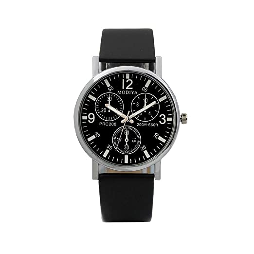 BBestseller Moda De Lujo Faux Leather Relojes De Cuarzo para Hombre Impermeable reloje Hombre Deportivos Watch