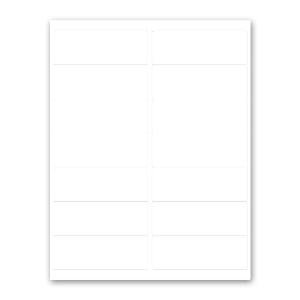 PDC Healthcare DPSL17-4 Label Laser, Paper Permanent, 2''- 4'' x 1-7/16, White, 14 per Sheet, 100 Sheets per Box (Pack of 1400)