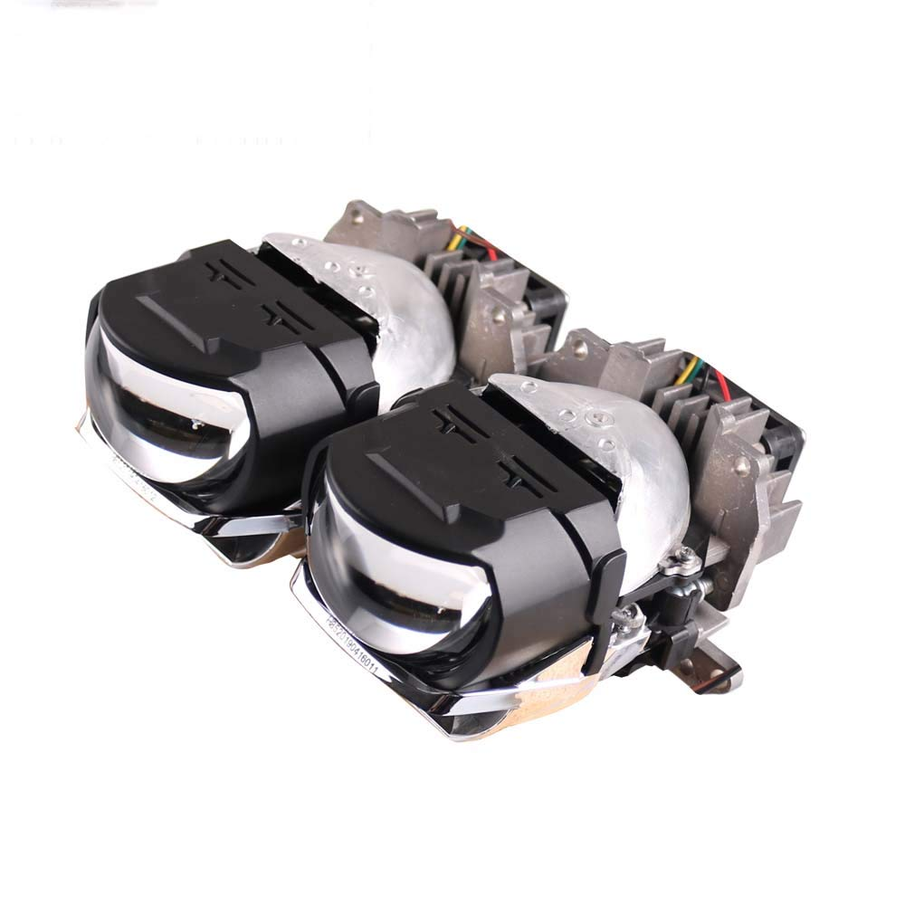H85 2 Pc 2.5 H85 H88 Bi LED Projector Headlight Lens 45W 6000K LED Projector Headlight Motorcycle Headlight Conversion Kit