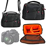 DURAGADGET Large Rugged Comfortable Padded Double-Zip Case With Adjustable Shoulder Strap For The New Panasonic LUMIX DMC-FZ1000 (2014 Release)