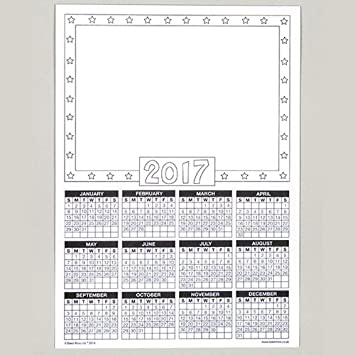 Calendar Blanks 2017 For Children To Design Decorate And