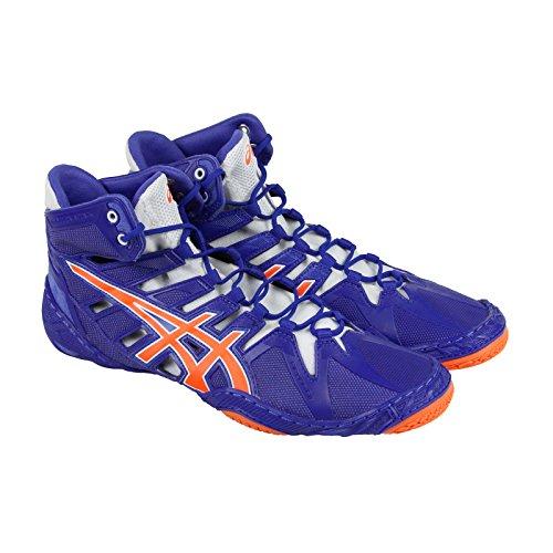 ASICS Men's Omniflex-Attack 2 Wrestling Shoe, True Blue/Shocking Orange/White, 11 M US Omniflex-Attack 2-M
