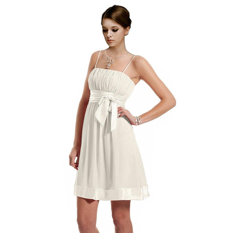 Dearta Women's A-Line Spaghetti Straps Short/Mini Chiffon Cocktail Dresses