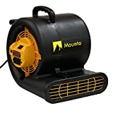 MOUNTO MT2000 2-Speed Air Mover Blower, Dual Power Outlet, Black