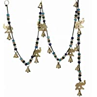 Beautiful Large Wind Chimes Outdoor Sound Rich Relaxing Tones - Brass Bells, Elephant Bells on a String with Colorful…