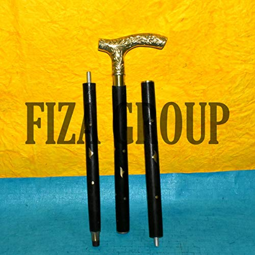 FIZA GROUP Antique Victorian Brass Designer Walking Stick Canes Halloween Edwardian New -