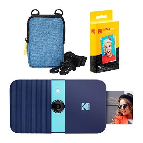 KODAK Smile Instant Print Digital Camera (Blue) Soft Case Kit