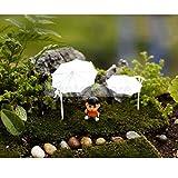 Generic S(2. 5cmx3. 2cm) : 5 Sets Micro Landscape Sunshade Umbrella Parasol Dollhouse Prop Garden Decor