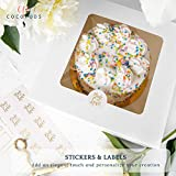 COCOPODS 25 Pack Auto Pop-Up Cake Boxes with
