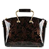 YANXI Shoulder Designer Patent Leather Multi Butterfly Tote Women Handbag